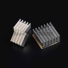 3pcs/lot for Raspberry Pi 2 B Heatsink Cooler Pure Aluminum Heat Sink Set Kit Radiator with Adhesive