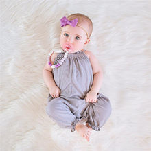 Toddler Kids Baby Girls Strap Romper Jumpsuit Harem Trousers Summer Clothes #BL5(China)