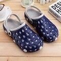 2016 Summer Beach Sandals Tamaño EE.UU. 7.5-10 de Los Hombres Zuecos Jardín zapatos antideslizante Slip On zapatos del Agujero Mulas zapatillas Para Hombre c270 15