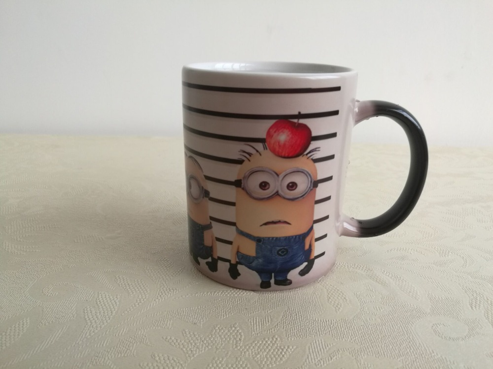 despicable me mugs minions mugs heat changing color Ceramic Tea water cold hot heat sensitive mug