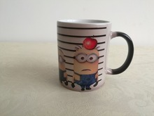 Despicable me tassen minions tassen wärme farbwechsel Keramik Tee wasser kalt heißer wärmeempfindlichen becher transforming schwarz zauberbecher
