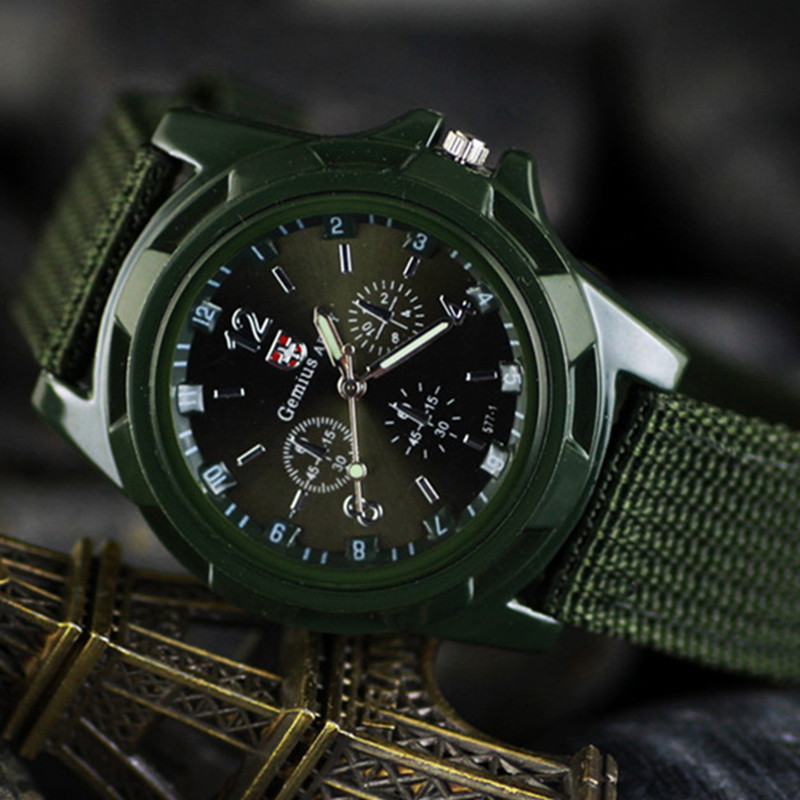 2017 New Famous Brand Men Quartz Watch Army Soldier Military Canvas Strap Fabric Analog Wrist Watches Sports Clock Wristwatches 661 men quartz watch with canvas strap