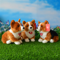 9.8 Soft Lifelike Welsh Corgis Pembroke Plush Toys Cute Sitting Corgi Dog Stuffed Toy Gifts 3 Colors Available For Children