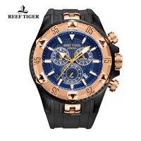 Reef Tijger/Rt Mannen Sport Horloges Quartz Horloge Met Chronograaf En Datum Grote Wijzerplaat Super Lichtgevende Stalen Designer Horloge RGA303