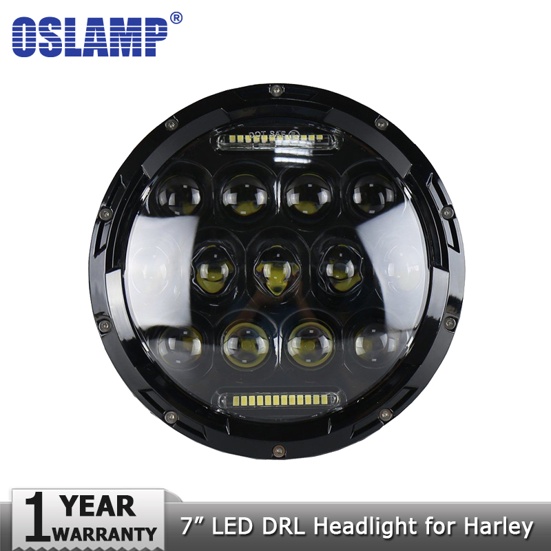 Oslamp 7inch 75W DRL LED Headlight Bulbs Led Driving Lights H4 H13 Hi lo Headlamp 12v for JEEP Wrangler/Land Rover/Hummer/Harley 7inch for jeep led headlight 5x7 headlight type led driving light 24v car led headlights 7x6 led headlamp light 5 7inch h4 h l