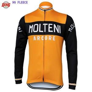 Men Cycling Jersey bike wear ropa Ciclismo Windproo Long sleeves Orange cycling  clothing 9100fea7f