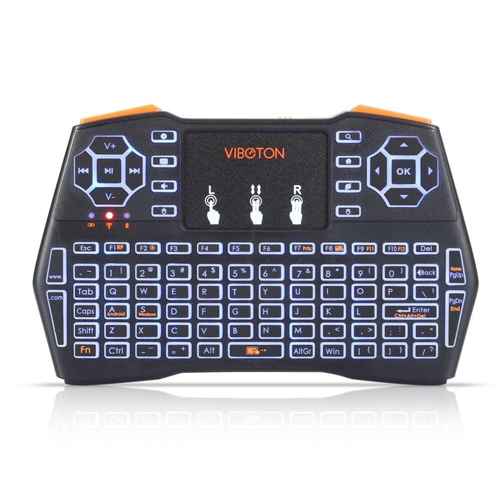 viboton i8 plus handheld mini wireless keyboard backlit touchpad for andriod google tv box. Black Bedroom Furniture Sets. Home Design Ideas