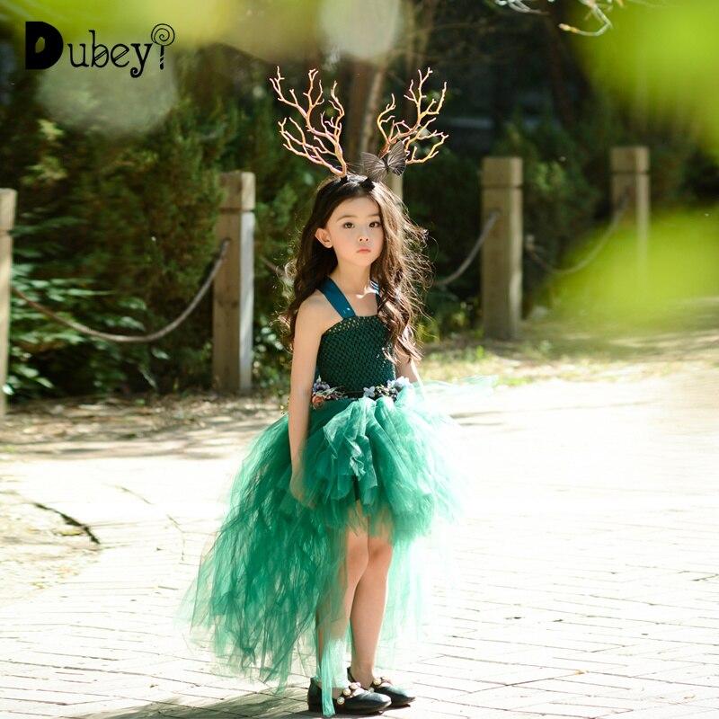 Elf เครื่องแต่งกายสำหรับสาว 10 ถึง 12 ปี Elegant เด็กวัยหัดเดิน Little Girls Mermaid เสื้อผ้าเครื่องแต่งกายเด็กพรหมชุด-ใน ชุดเดรส จาก แม่และเด็ก บน AliExpress - 11.11_สิบเอ็ด สิบเอ็ดวันคนโสด 1