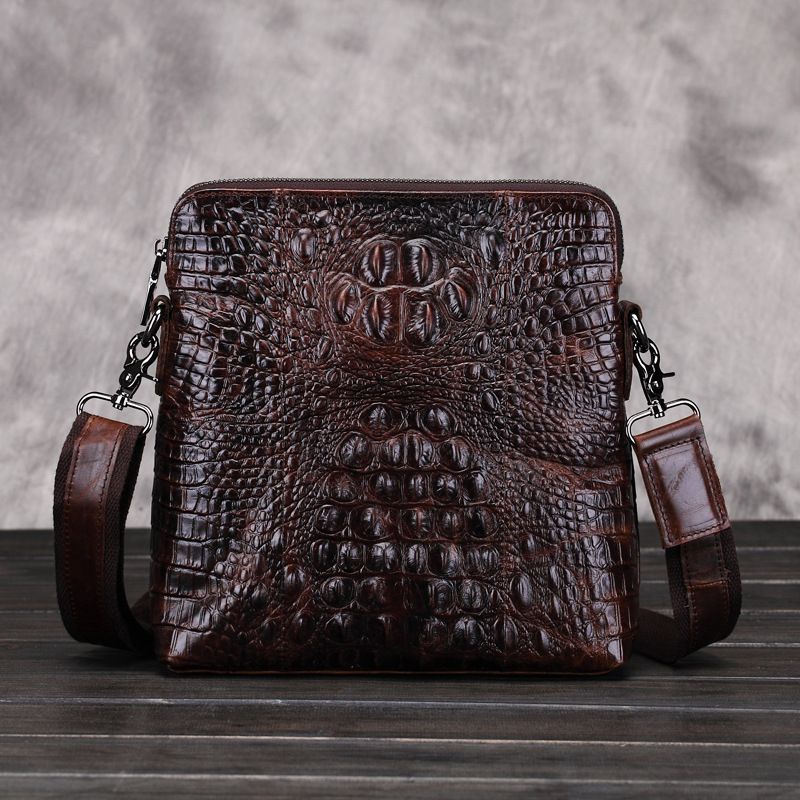 New Luxury Brand Designer Men Vintage Messenger Bags Male Business Crocodile pattern Stylish Shoulder Cross Body Bags for Ipad
