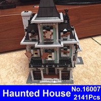 TRACKER New LEPIN 16007 2141Pcs Monster Fighter The Haunted House Model Set Building Kits Model Compatible