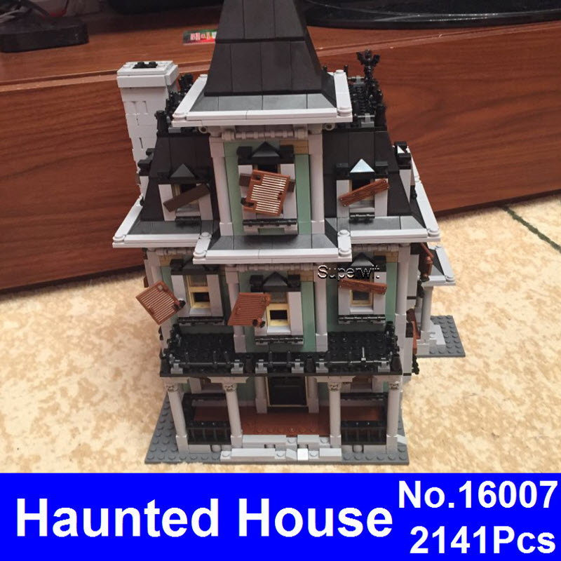 Superwit New LEPIN 16007 2141Pcs Monster Fighter The Haunted House Model Set Building Kits Bricks Compatible 10228 Kids Gift куплю москвич 2141 в костроме