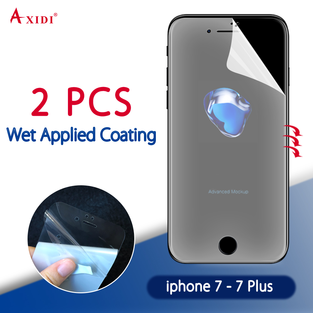 wet applied screen protector full cover for iphone 7 7 plus 8 8 plus film clear use layer tpu. Black Bedroom Furniture Sets. Home Design Ideas