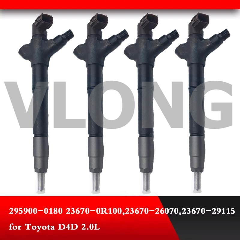 Diesel Fuel Injector 23670-0R100 fit for <font><b>toyota</b></font> Corolla Verso <font><b>T27</b></font> 2.0D-4D 295900-0180 image
