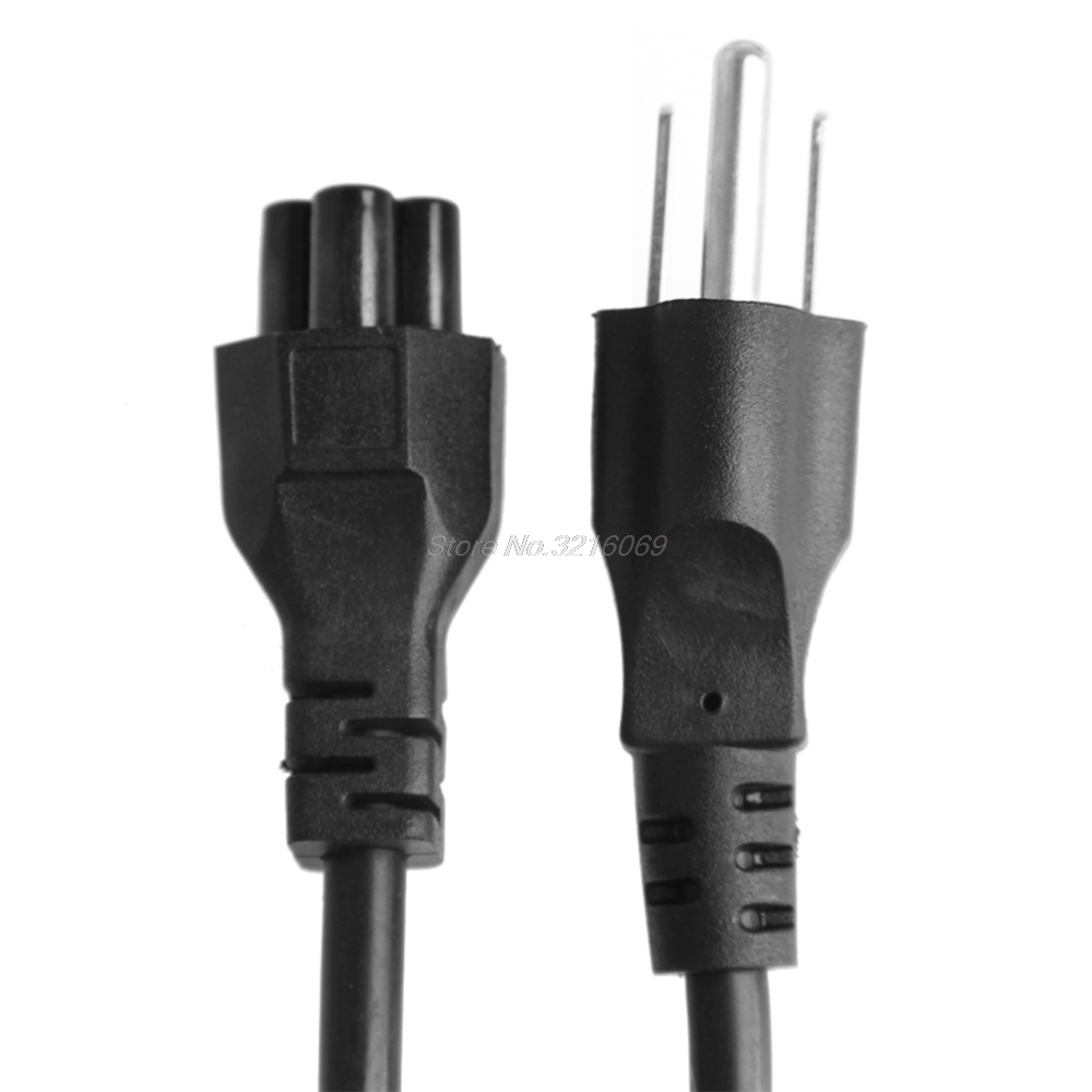 C5 To <font><b>3</b></font>-Pin Laptop <font><b>AC</b></font> Adapter Charger <font><b>Power</b></font> Lead Main <font><b>Cable</b></font> Cord US/UK/EU Plug Sep12 Drop Ship image