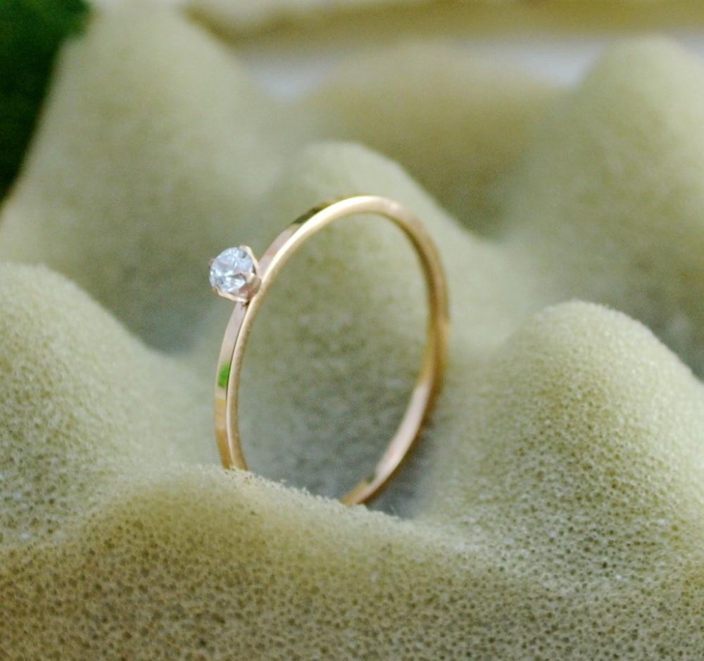 2020 Enkel vacker smal rostfritt stål kristallring för kvinnor - Märkessmycken - Foto 3