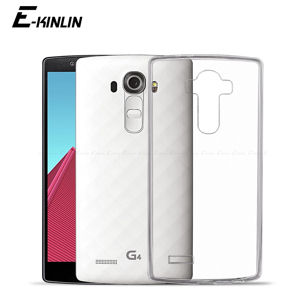 Ultra Slim Clear Silicone Case For LG G4 G3 Q NOTE Stylus Prime Stylo 4 3 2 Plus Back Soft TPU Protection Cover image