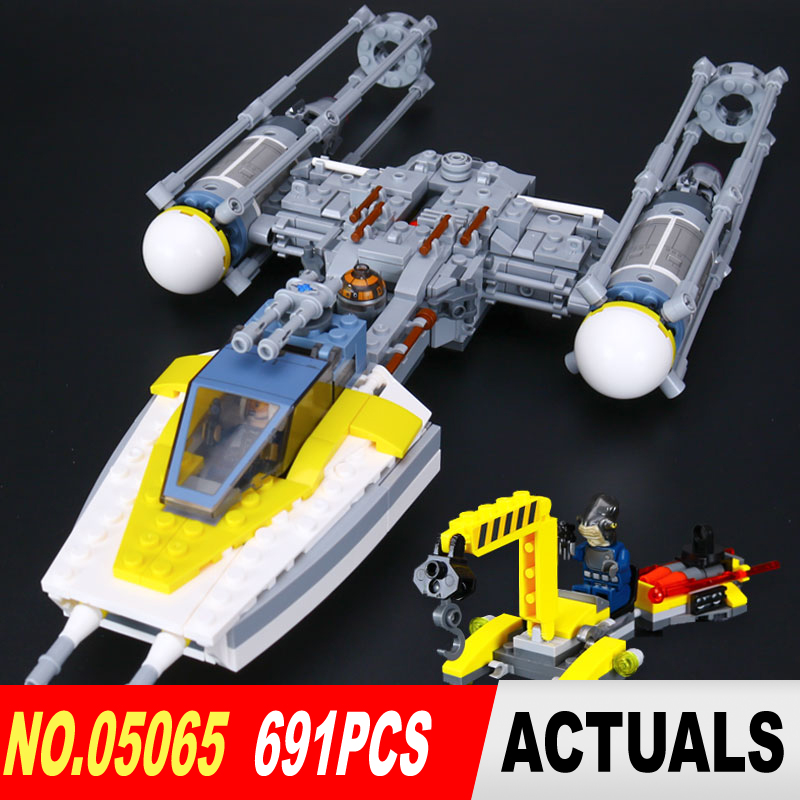 ФОТО Lepin 05065 New 691Pcs Star War Series The Y-wing Starfighter Building Blocks Bricks Educational Toys 75172
