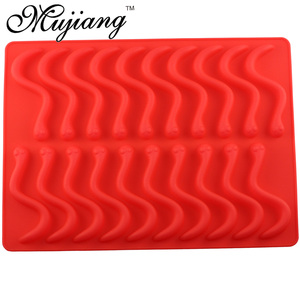 Image 5 - Mujiang 20 Cavity Silicone Gummy Snake Wormen Chocolade Schimmel Suiker Candy Jelly Mallen Ice Tube Tray Mold Cake Decorating Gereedschap