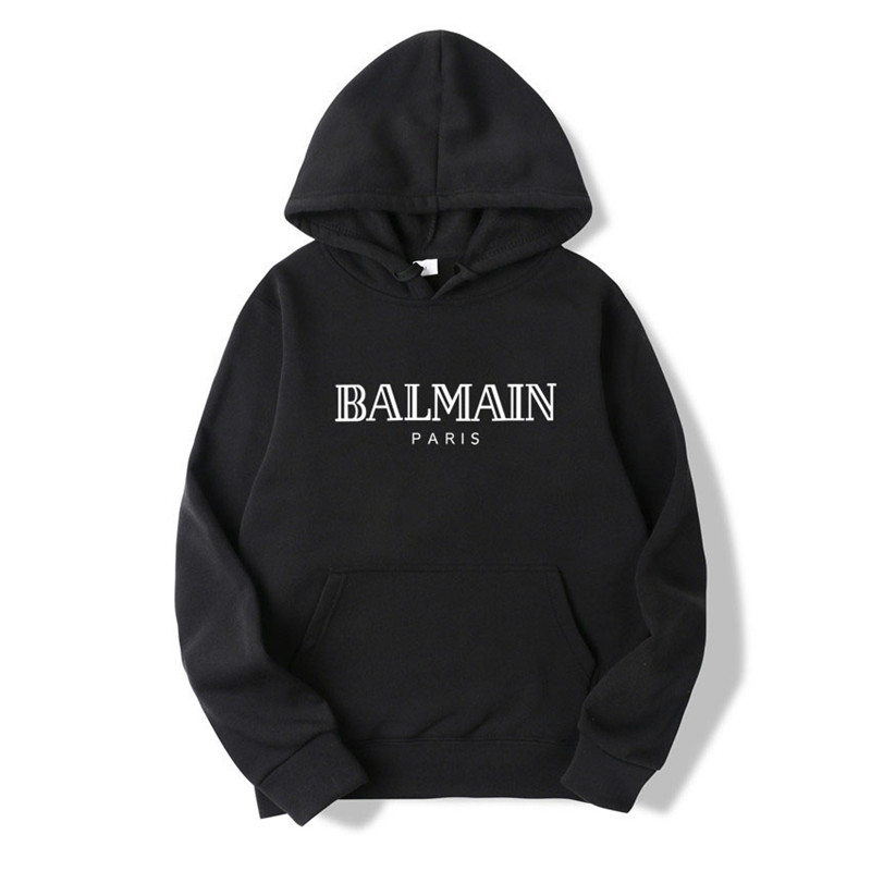 New models for men and women in 2019 BALMAIN hoodie long sleeve warm fall  casual men's neutral pullover hoodie men's new trend