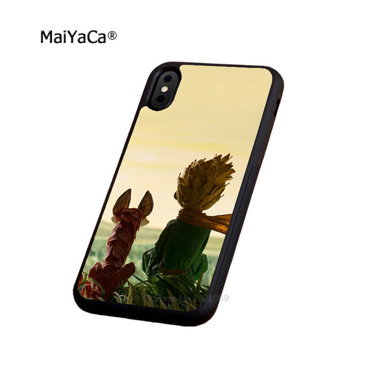 the little prince soft silicone edge mobile phone cases for apple iPhone x 5s SE 6 6s plus 7 7plus 8 8plus XR XS MAX case in Half wrapped Cases from Cellphones Telecommunications