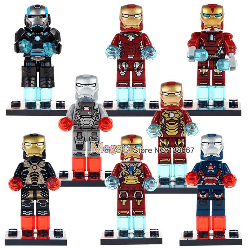 Building Blocks 10Lots of Super Hero IronMan War Machine MK46 MK1 Toys Children Educational Gifts Toys
