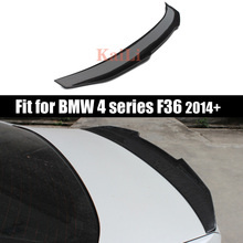 F36 Carbon Fiber Rear Trunk Spoiler Wing For BMW Gran Coupe 4 Series 420i 428i 435i 418d 420d Spoilers  PSM Style 2014+