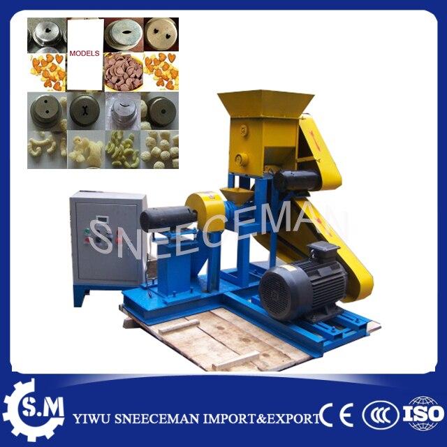 60-80 KG/H extrusora de alimentos extrusora de milho inchado milho extrusora de milho comercial que faz a máquina ou máquina de salgadinhos de arroz chinês máquina