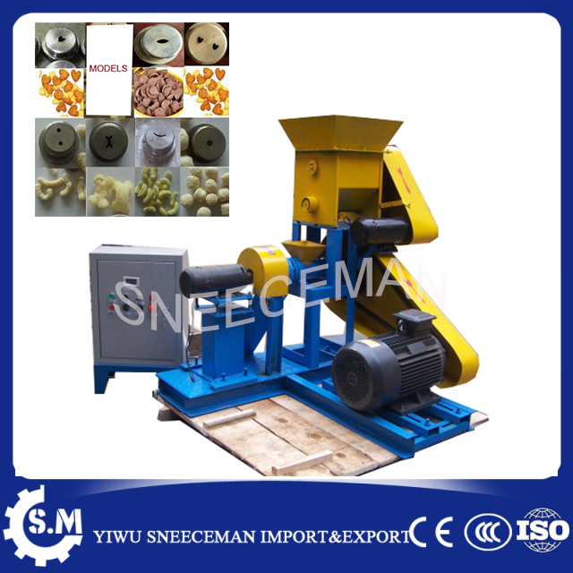 60-80KG/H food extruder corn extruder puffed corn machine or rice snack machine chinese commercial corn extruder making machine large production of snack foods puffing machine grain extruder single screw food extruder