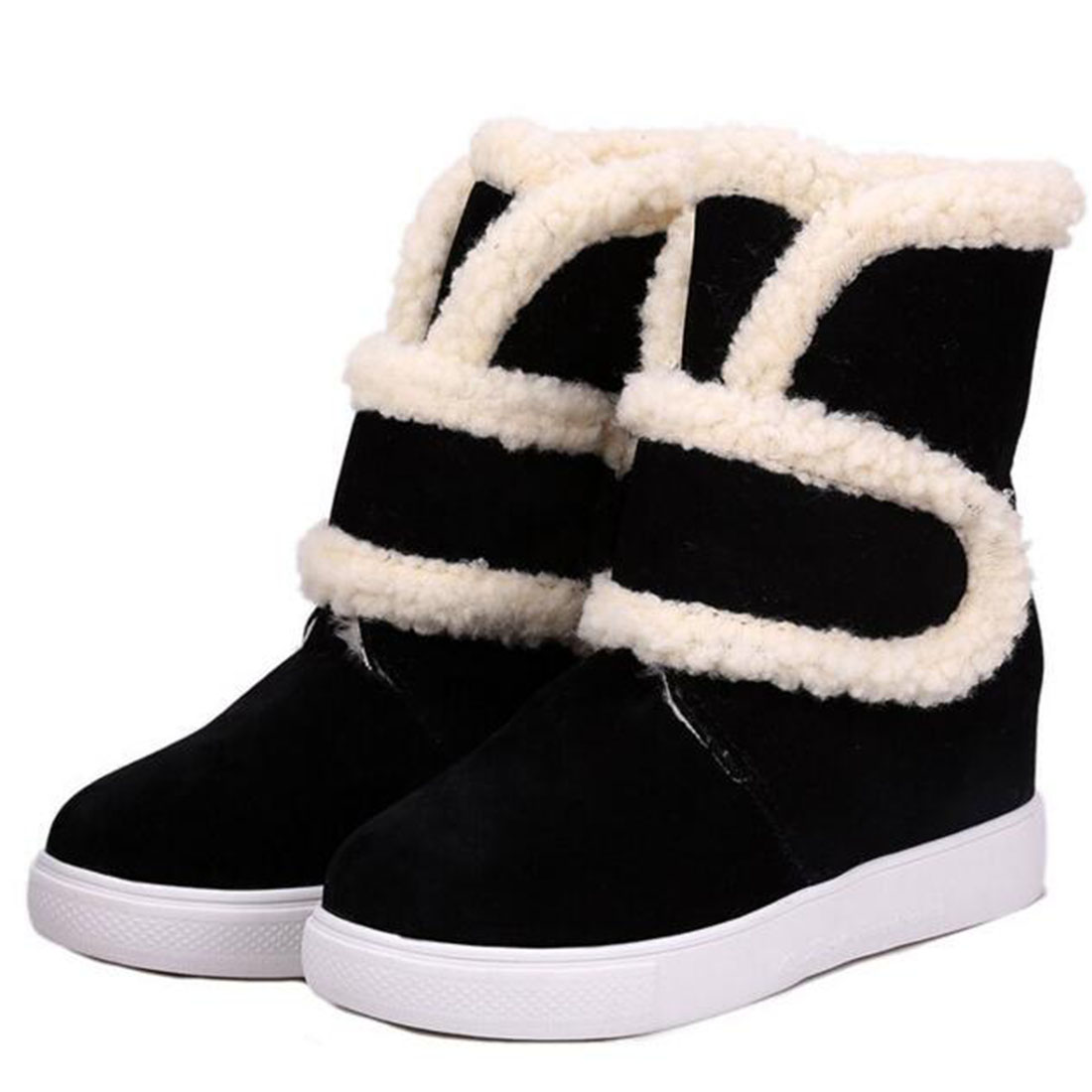 Winter women boots 2017 New High Quality Thick fur very warm plush ...