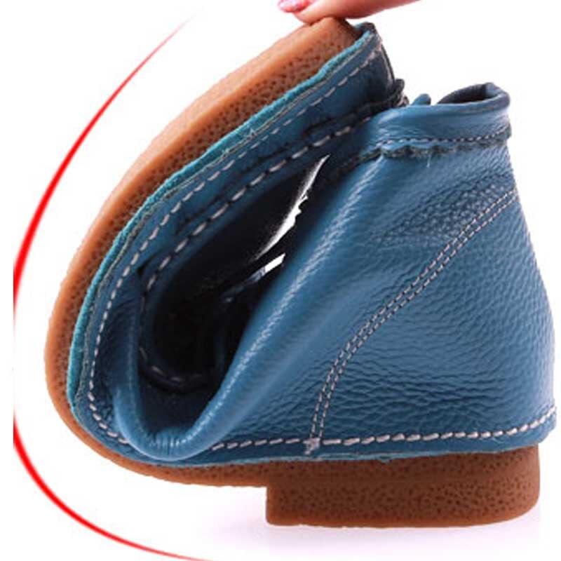 Femmes Dames Printemps Lace Cheville Low Pleine Bleu Chaussures Casual Automne Fleur Bottes Moto Yaerni orange brown Up Appartements Cuir or En Véritable dwZq74xdz