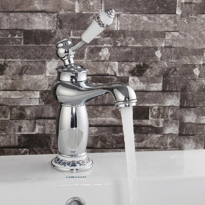 Modern Style Lamp Shape Kitchen Water Faucet Brass Single Handle Bathroom Sink Basin Faucet Mix Tap