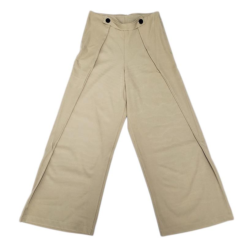 c1b6e1efce Las Streetwear Mujeres Pantalones Lado Pierna Volantes Diseñador Estilo Moda  Dama 3d Oficina Wang 2019 Ancha De Primavera Whitney wvZq64II