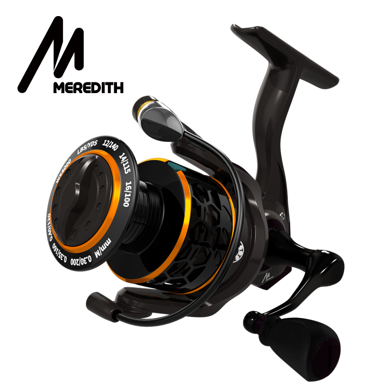 MEREDITH DAFNE KEEN Spinning Reel 5.2:1 2000 3000 4000 Triple Disc Carbon Drag 12KG Max Drag Power Bass Pike Carp Fishing Reels smartphone