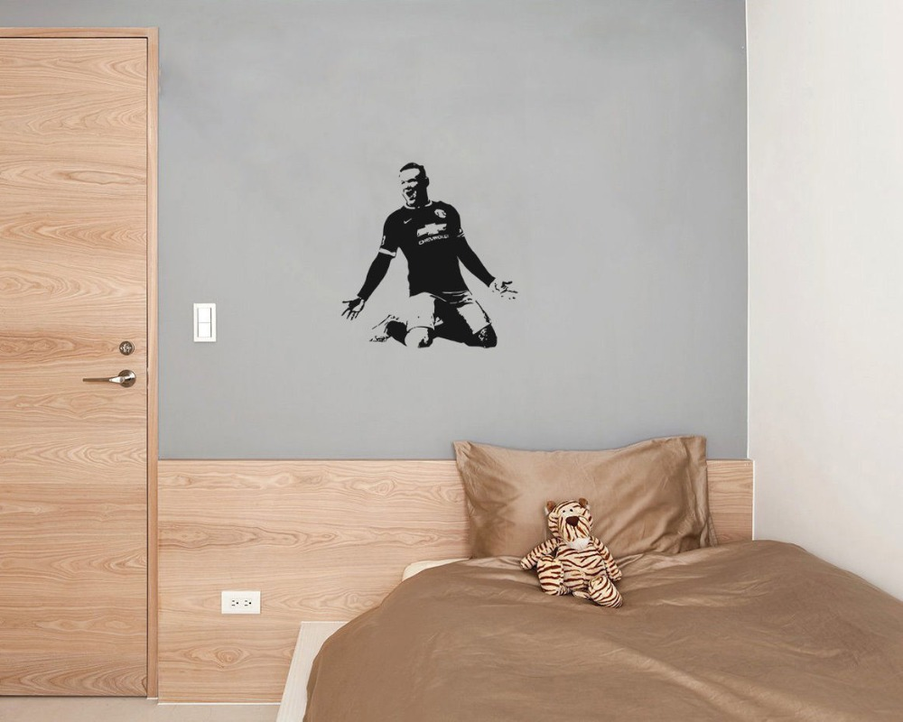 Football wall stencils gallery home wall decoration ideas football player wayne rooney wall decal celebrate victory vinyl football player wayne rooney wall decal celebrate amipublicfo Images