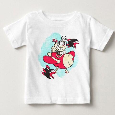 cuphead camisetas de verao para menino e menina do miudo confortavel respiravel premium mascarado t