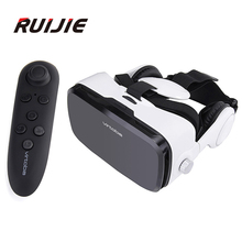 Virtoba X5 VRกล่อง120องศาFOV 3D VRเสมือนความเป็นจริง3Dภาพยนตร์วิดีโอเกมแก้วสำหรับ4-6นิ้วมาร์ทโฟน+ระยะไกลควบคุม