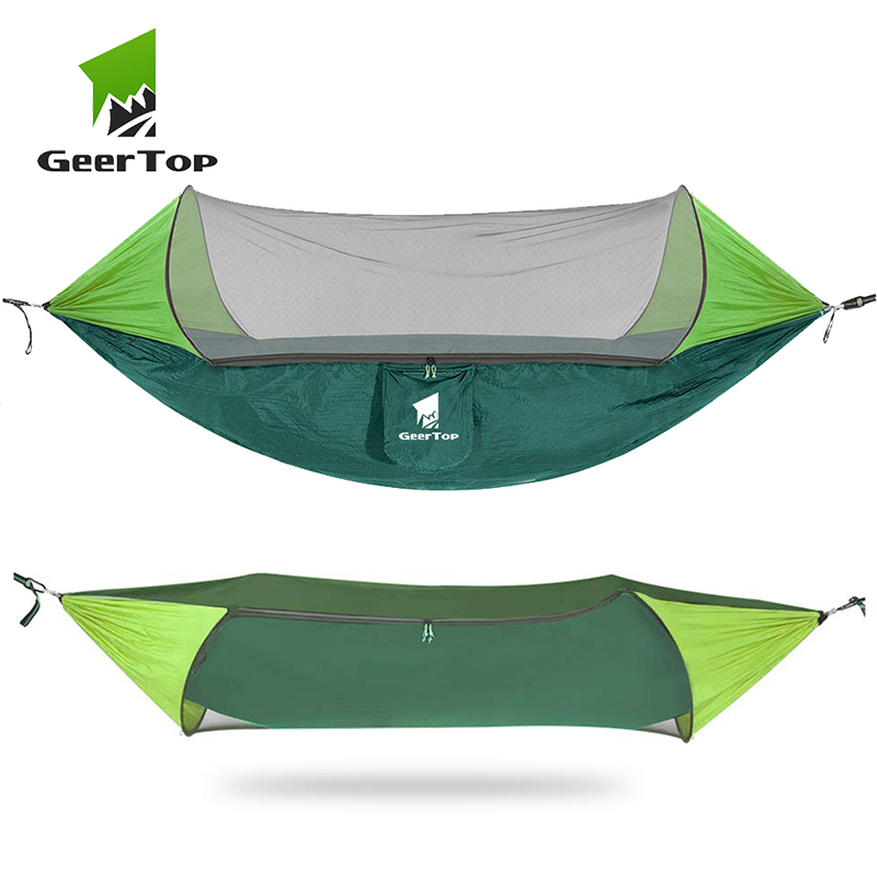 GeerTop 1 2 Person Outdoor Hammock Anti Mosquito Tent Camping Swing Hanging Sleeping Bed High Strength