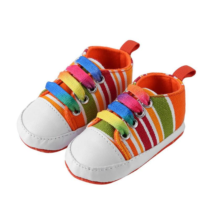 Amazingdeal Casual Sports Sneakers Geometric Flags Baby Shoes Soft Soles First Walkers