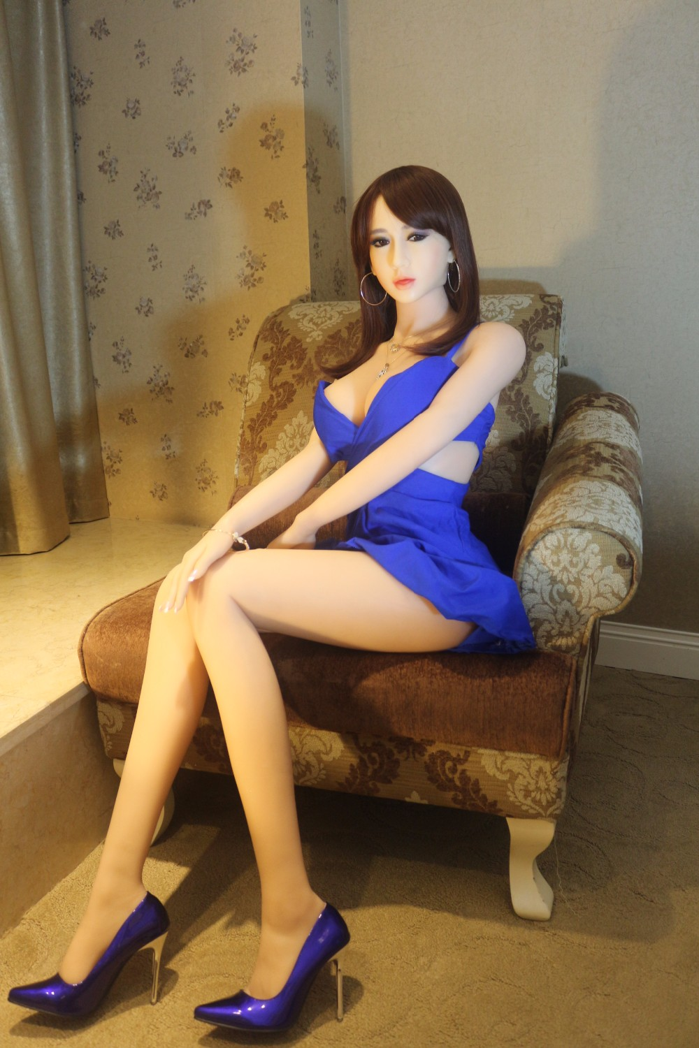 Life size solid real silicone japanese anime sex doll realistic with metal skeleton for men NSM-165NAKED 3