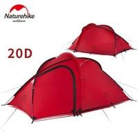 Naturehike Hiby family Tent 20D силиконовая Ткань Водонепроницаемая двухслойная 3 человека 4 палатка для кемпинга сезонная одна комната один зал