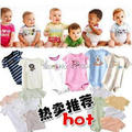 5 pieces/lot baby bodysuit baby girls boys jumpsuit short sleeve clothes Infant romper baby clothes cute kids babywear