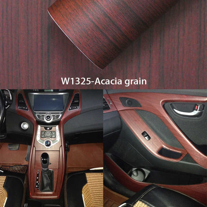 Detail Feedback Questions About 3d Car Stickers 30 100cm Wood Grain