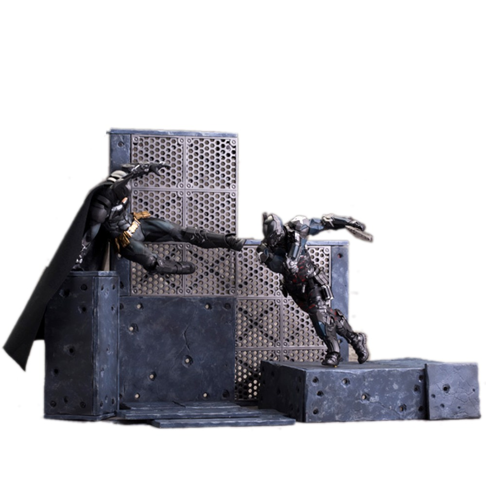 Crazy Toys 2pcs Set Batman Arkham Knight Battle Action Figure Loose No Box 7.5 CT001027 batman arkham knight vol 2