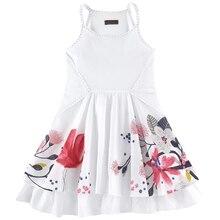 Catimini девушки платья летние 2016 девочка печать ребенок платье без рукавов бренд catimini девушки одежда 2
