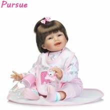 Pursue 55cm Lifelike Realistic Newborn Reborn Toddler Baby Dolls Toys for Children Girls Boys for Sale boneca american girl Doll