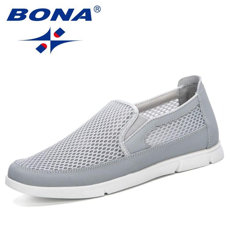 62219406 BONA/Новинка 2019 года; модные стильные мужские кроссовки; летняя дышащая мужская  обувь из сетчатого материала; Повседневная Легкая удобная обу.