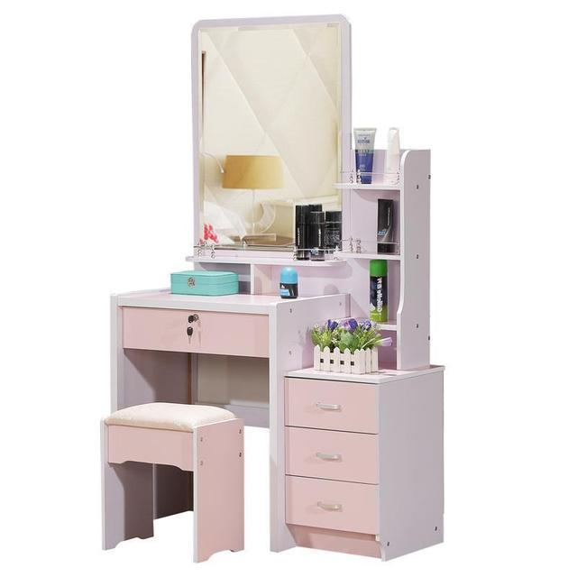 Toaletka Do Sypialni Vanity Drawer Wooden Korean Bedroom