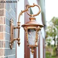 European Outdoor Sconce Wall Lamps Waterproof Antirust LED Porch Lights Wall lamp Garden Aisle Aluminum Lighting Fixtures