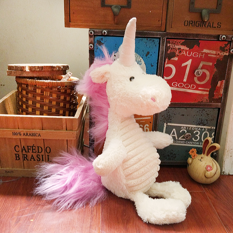 Candice guo! super cute plush toy creative animal stripe unicorn pig lion mammoth rhinoceros crocodile soft doll Christmas gift super cute plush toy dog doll as a christmas gift for children s home decoration 20