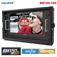 Lilliput BM150 12G 15.6 inch 3840*2160 12G SDI 4K Monitor Carry on Broadcast Monitor HDMI TALLY for Camera 12G SDI Single Link